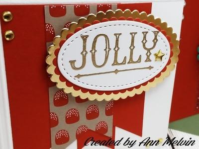 Easy Christmas Cards using Scraps & Envelope paper