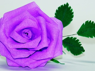 Flowers making. How To Make Rose Paper Flower. Crepe paper rose flower. diy paper rose.Julia DIY
