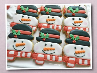How to Decorate a Snowman Cookie