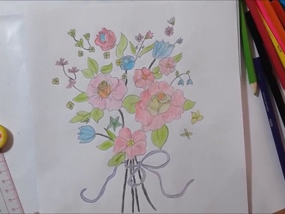 How to drawing a bunch of flowers