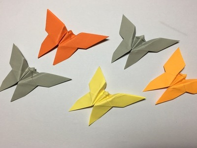 How to fold a butterfly origami paper step by step.Easy Origami paper butterfly design.decorations