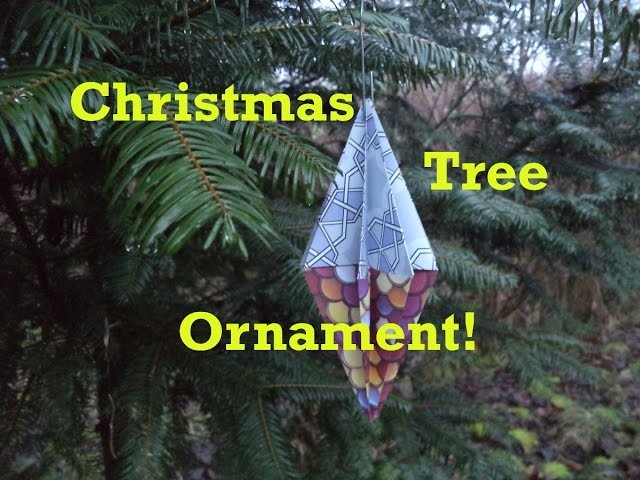 How to Fold an Origami Christmas Tree Ornament