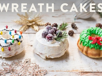 How to Make 3 HOLIDAY WREATH CAKES