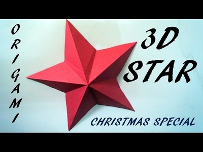 Origami christmas santa claus my crafts and diy projects for How to make 3d paper stars easy