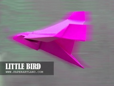 How to make a Paper Airplane - Origami Bird That Flies - Pink Bird
