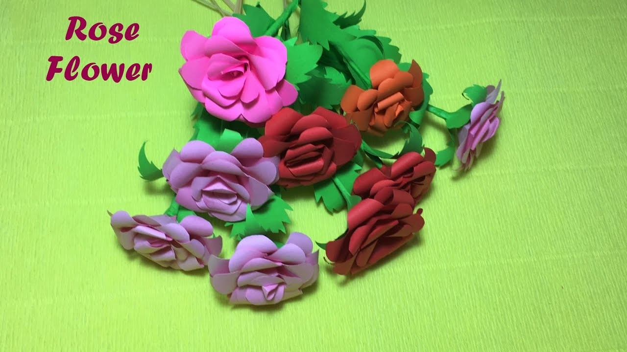 How to make  Beautiful Rose paper Origami Easy and Fast.paper rose diy tutorial step by step