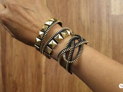 How to Make Bracelets out of Zippers