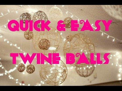 How To Make DIY Christmas Twine String Ball Ornaments & Lantern Decorations | Arts & Crafts