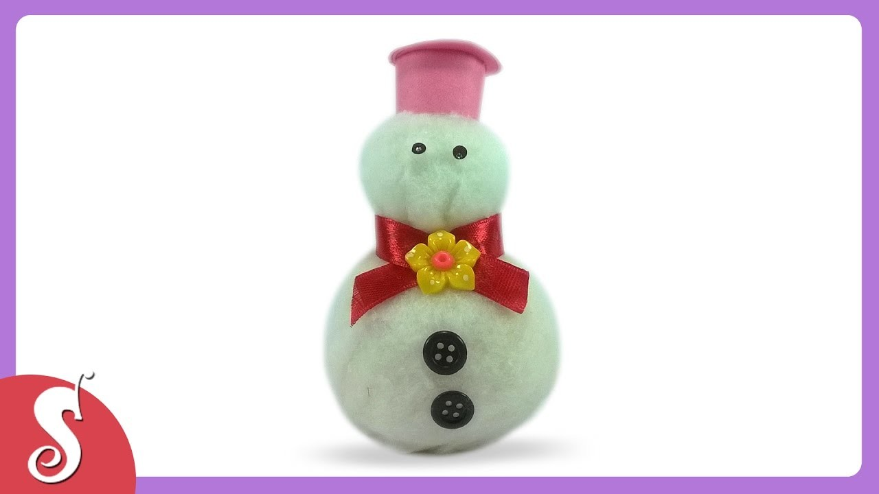 How to make Frozen Snowman from cotton