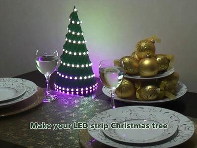 How to make LED strip Christmas Tree | DIY Christmas decorations 2016 | Homemade Gift | STM32F