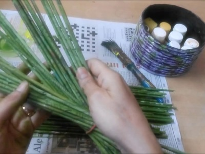How To Make News Paper Tube & Color It