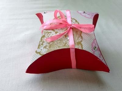 "How to make ""square cushion gift box"" | DIY"