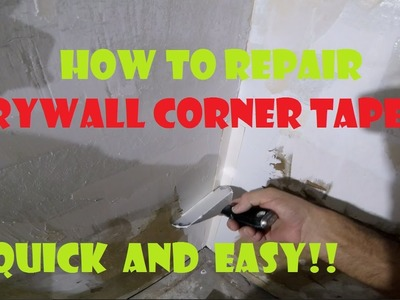 How to repair drywall corner tape after DIY wallpaper removal before I skim coat the walls
