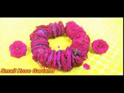 How to string roses Indian method|Indian fresh flower - rose garland making