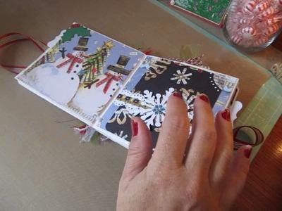 Personal Cricut Challenge #107~ Christmas Paper Bag Scrapbook Album