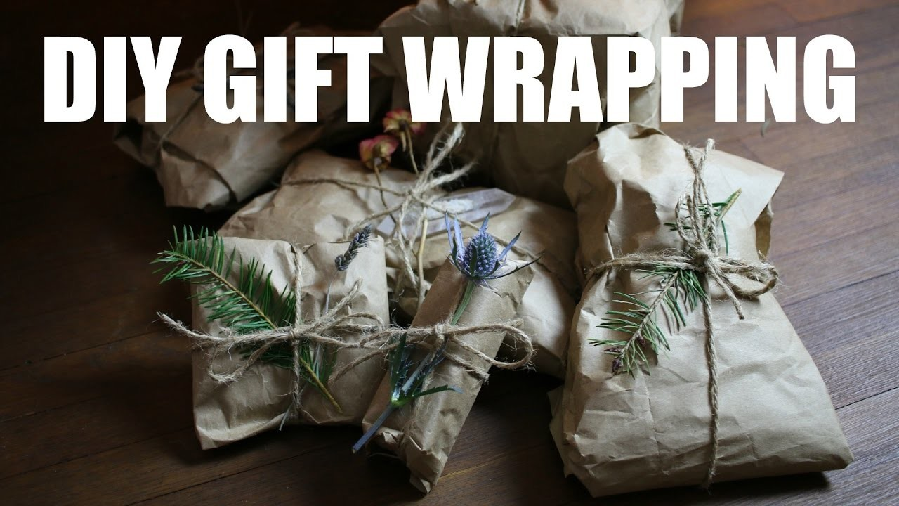 The BEST DIY gift wrapping (zero waste)