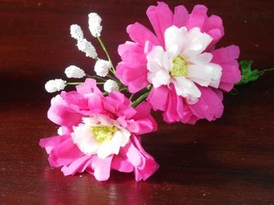 Tissue Paper Flowers Tutorial : Aster