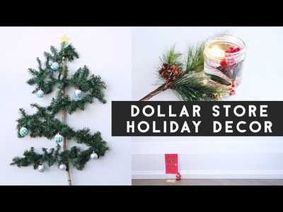 ✂ 4 DIY Dollar Store Holiday Decorations & GIVEAWAY!