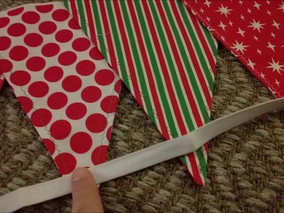 Christmas Bunting Sew with Me!