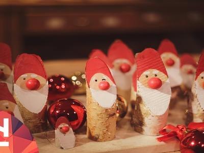 DIY Christmas table Santa
