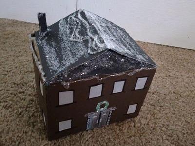 DIY Christmas Village House - How to Make