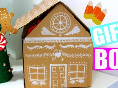 DIY Gingerbread House Gift Box   Easy Gift Wrap IDEAS + Holiday Giveaway (Closed)
