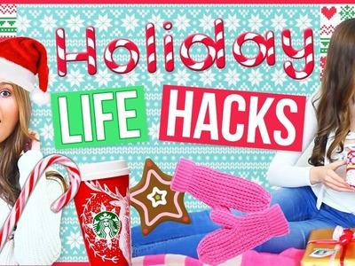 DIY Holiday LIFE HACKS You NEED To Try!!