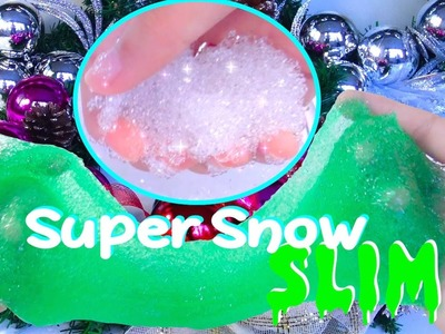 DIY: How to Make SLIME Supersnow + DIY Christmas Decorations