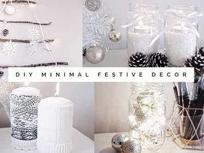 DIY Minimal, Aesthetic Festive Room Decor 2016 | Pinterest Inspired