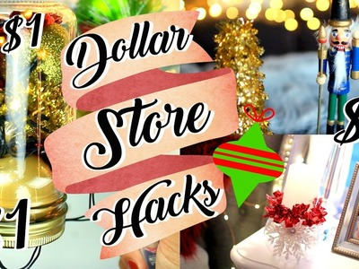Dollar Store DIY Hacks CHRISTMAS DECOR $1!!! | Belinda Selene
