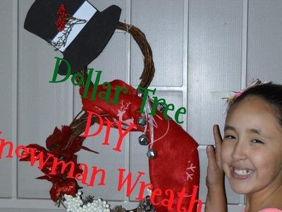 Dollar Tree DIY Snowman Wreath
