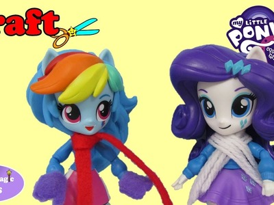 My Little Pony Winter Accessories Mittens and Scarf Rainbow Dash Rarity Happy Magic Toys