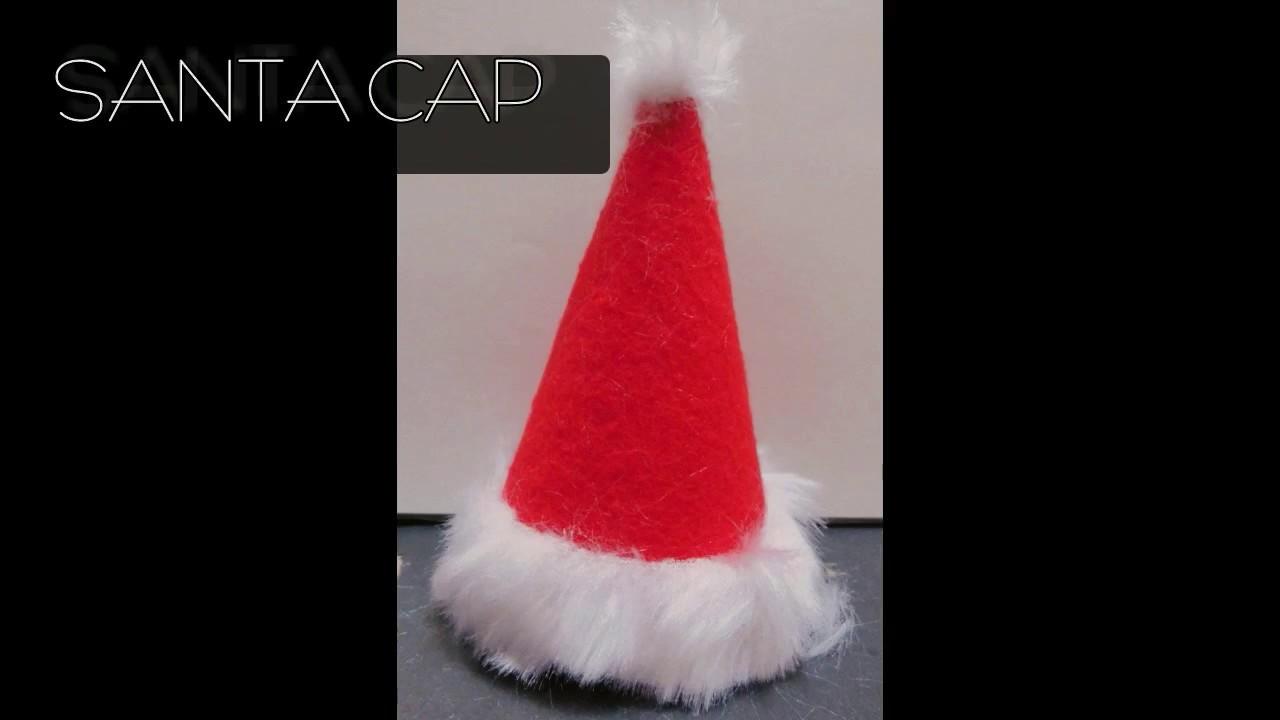 Santa cap- DIY- learn how to make santa cap:)
