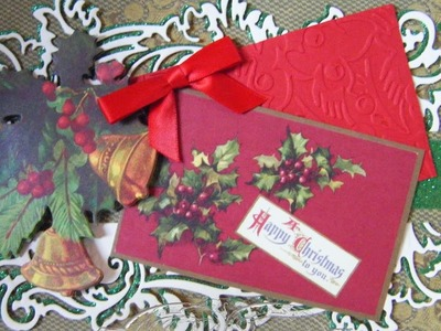 264.Christmas Card Project: Anna Griffin Christmas Red & Green Bells Card