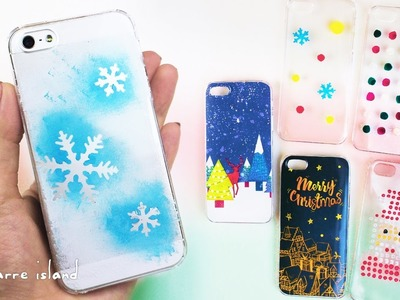 6 Christmas Phone Case Ideas DIY gifts | Christmas Countdown | c for craft