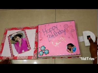 Birthday scrapbook created by me for my dear cute sister.