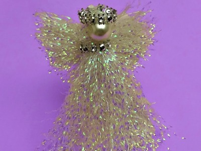 Christmas Craft . Beautiful iridescent Angel.  Very Easy to make.