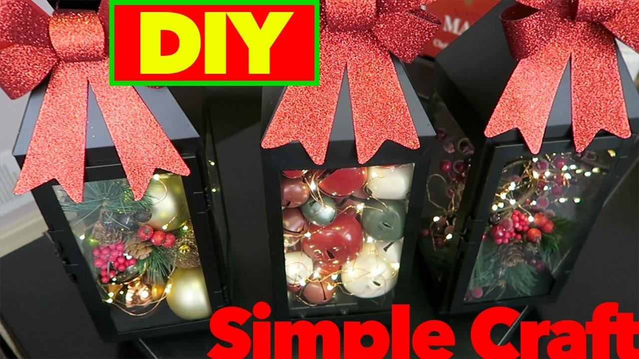 DIY Christmas Decorations | Christmas Lanterns | Michaels Craft Store | Simple Craft |