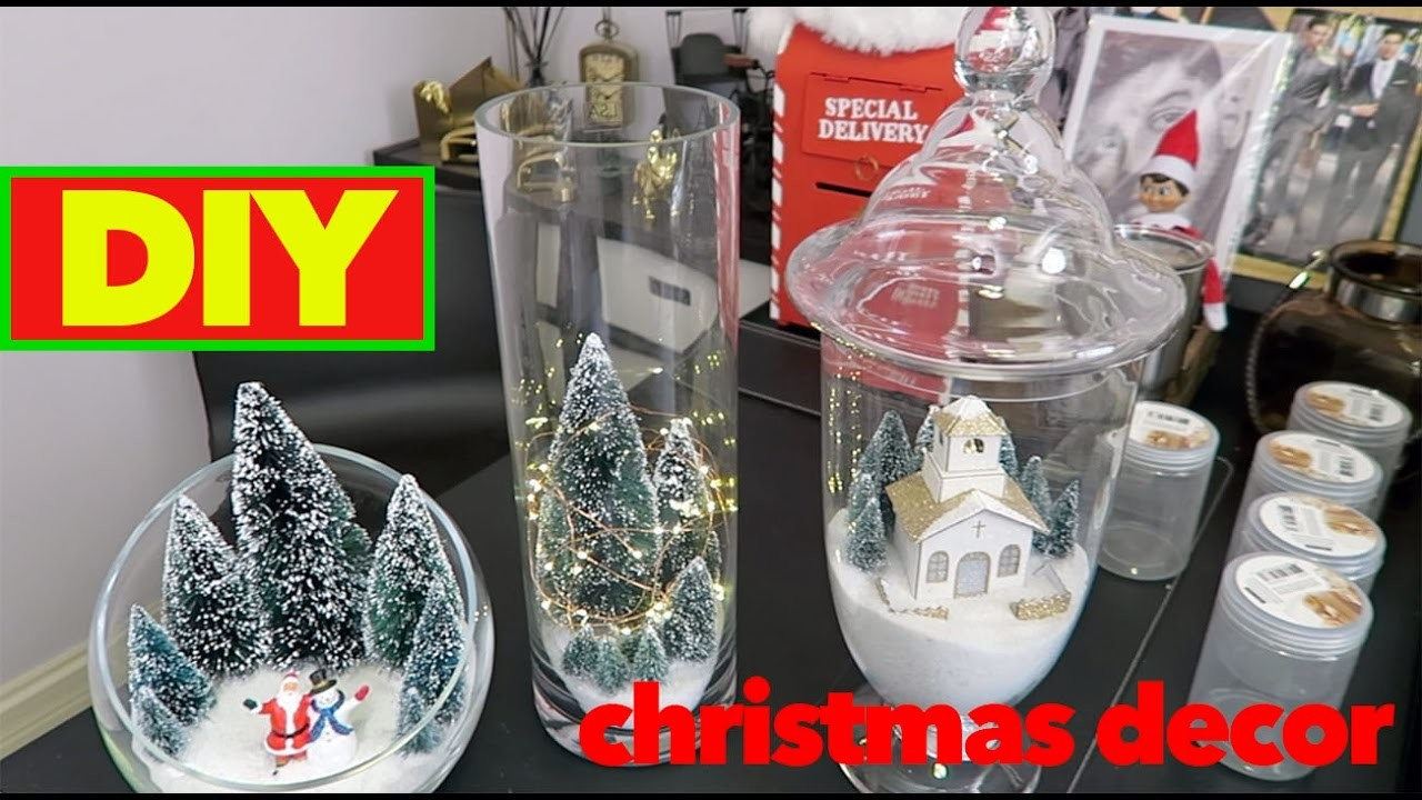 DIY Christmas Decorations | Table Top Holiday Decor | Apothecary Jars | Michaels | Simple Craft |