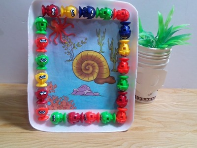 DIY Crafts for Kids - How to Recycle Old toys to Make beautiful frame + Tutorial .