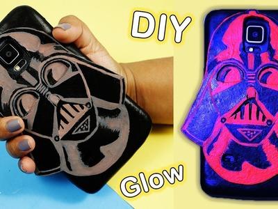 DIY DARTH VADER Phone Case - Glow in the dark #StarWars #DarthVader