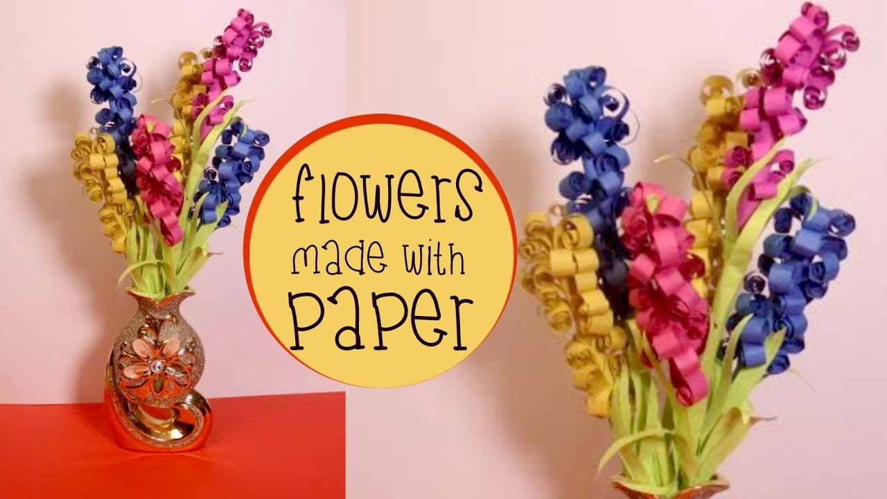 Diy Flowers Made With Paper | Easy to Make Paper Lavender Flowers- Craft Basket