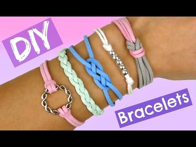 DIY Frendship Bracelets I 5 EASY and Cool Bracelets I Stackable Arm Candy projects