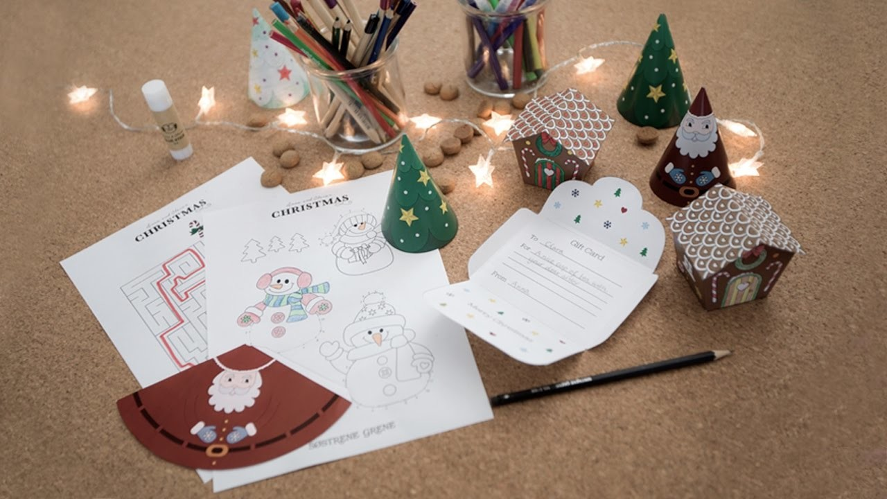 DIY : Fun templates for children's craft ideas by Søstrene Grene