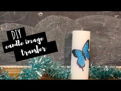 DIY Gift   Easy Custom Candle Art (Image Transfer)