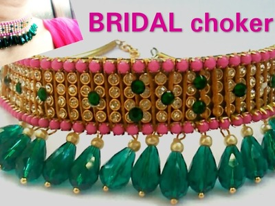 """DIY Ideas  How to make """"CHOKER""""necklace At home."""