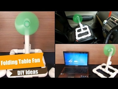 DIY Ideas.PVC Project  - How to make table fan at home - Electric, High Speed Easy, Handy & Folding