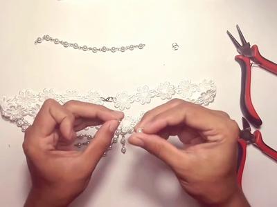DIY lace headchain   Tutorial membuat headchain ala Elysia Handmade