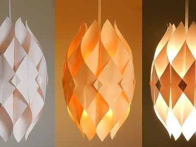 DIY lamp (Eternal flame) - learn how to make a paper lampshade.lantern - EzyCraft