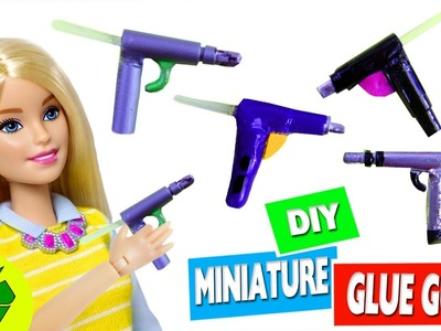 DIY |  MINIATURE REALISTIC HOT GLUE GUN - Easy Doll Craft